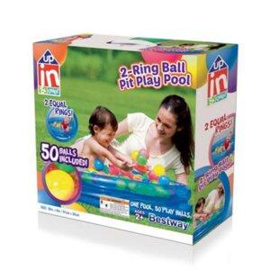 Bestway 51085, надувной детский бассейн с шариками