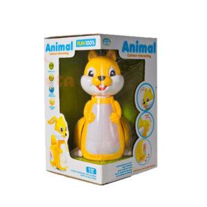 Bērnu rotaļlieta neapturamā vāvere Animal squirrel yellow