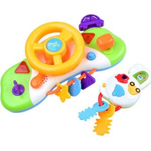 Komplekts rotaļu bērnu auto stūre ar atslēgam