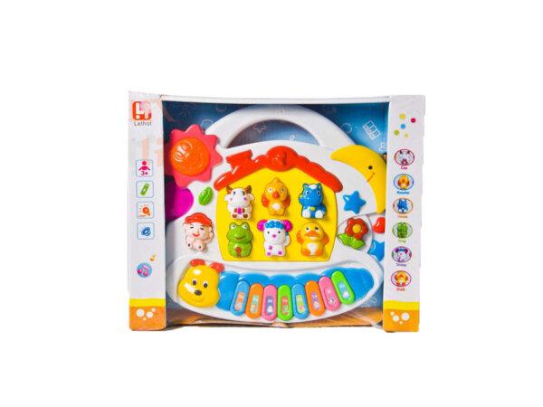 Attīstoša rotaļlieta muzikālas klavieres ar dzīvnieku skaņām.