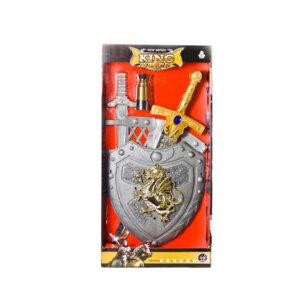 игрушечный набор рыцаря для детей King sword with shield