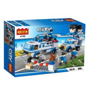 Lego analogs, konstruktors policija, rotaļlietas zēniem