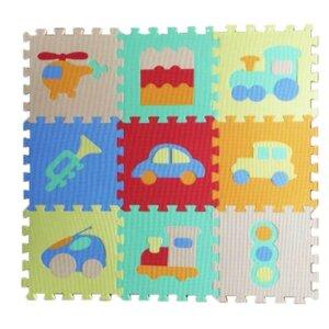 Grīdas puzle, mīksta grīda bērniem ar mašīnam
