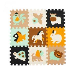 Grīdas puzle paklājiņš, dzīvnieku figūras