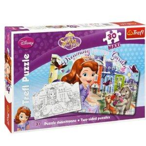 Princese Sofia, Trefl puzle, galda spēle, puzle meitenēm, maxi 30