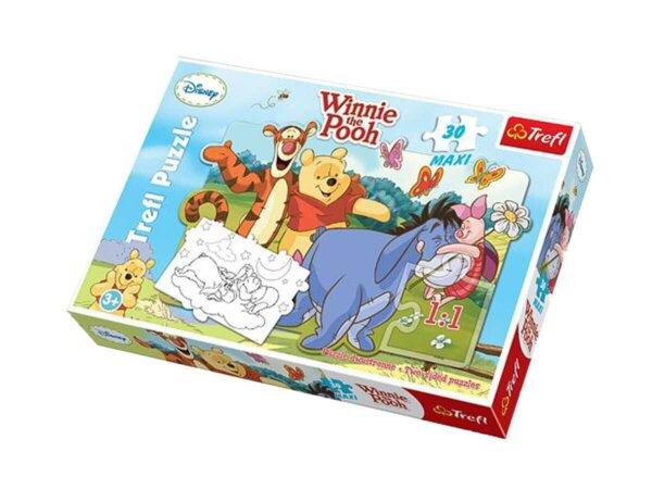 Puzle, Vinnijs Pūks, galda spēle, Trefl puzzle, 30 gabaliņi