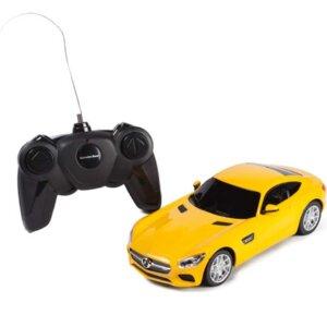 AMG GT, Mercedes Benz, dzeltena mašīna, radiovadāma mašīna, bērnu rotaļlieta