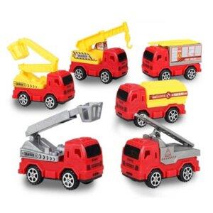 Ugunsdzēsēju mašīna, rotaļu mašīnu komplekts, ugunsdzēsēju komplekts, rotaļu komplekts ar paklāju