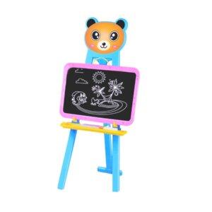 Bērnu zīmēšanas tāfele Learning easel, divpusīga tāfele, molberts