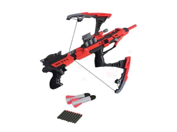 Rotaļu ierocis, arbalets, divi vienā, mīkstas lodes, Nerf analogs, Raytheon Phantom