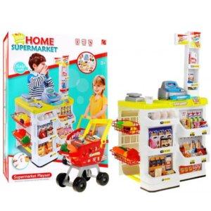 Home supermarket, lomu spēle,tirdzniecības spēle,kolektīva spēle,pārdošanas spēle,rotaļlieta iepirkumu veikals. liels komplekts