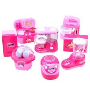 Virtuves rotaļu mikseris, rotaļu virtuves priekšmeti, rotaļlietas meitenēm, virtuves tehnikas komplekts bērniem, rotaļu mikroviļņu krāsns.