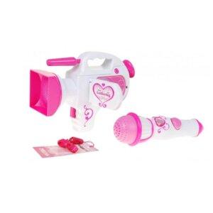 rotaļu video kamera, rotaļu mikrofons, bērnu reportiera rotaļu komplekts, bērnu rotaļlietas.