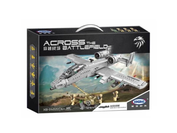 Iznīcinātājs A10,rotaļu iznīcinātājs, kaujas lidmašīna,konstruktors avio tematikā,savienojams ar lego,lego analogs