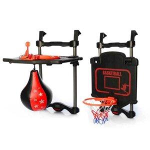 sporta spēle bērniem, trīs spēles vienā, basketbols, bokss, dārts, rotaļlieta sportam, aktīvā rotaļlieta, sporta spēlu komplekti bērniem, bokss bērniem.