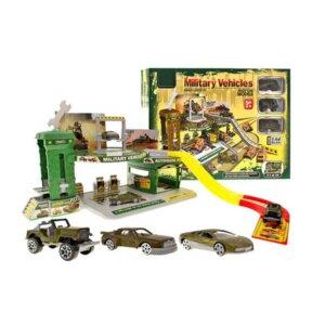 Militāra remonta bāze bērnu spēlēm, bērnu rotaļlietas, auto medeļi, rotaļu auto darbnīca.