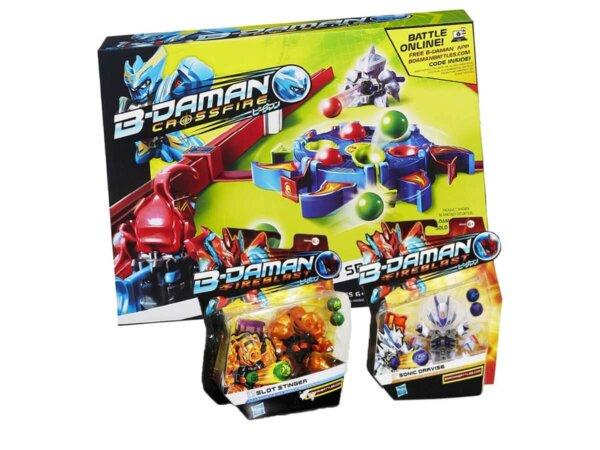 Bērnu seriāla varoņi,Bīdemani,B-Daman game,TV varoņu spēle,Marbles,spēle ar lodēm,aktīvā spēle,spēle diviem.B-Daman Fireblast,Crossfire arena