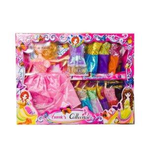 Lelles ar drēbēm, komplekts lellei, bārbijas analogs, attīstošās un interaktīvās rotaļlietas