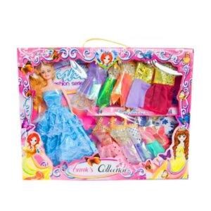 Lelles ar drēbēm, komplekts lellei, bārbijas analogs, leļļu un leļļu aksesuāru klāsts, rotaļlietas meitenēm