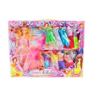 Lelles ar drēbēm, komplekts lellei, bārbijas analogs, rotaļlietas meitenēm, rotaļlietu komplekts
