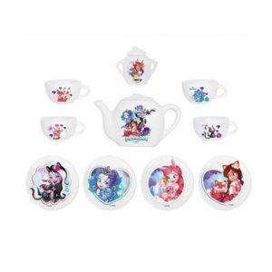 Enchantimals tējas servīze, bērnu rotaļlieta, rotaļu porcelāna tējas servīse, Smoby rotaļlietas meitenēm
