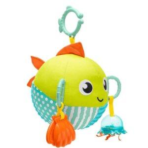 Fisher Price rotaļlieta mazuļiem, mazuļu grabulis, bērnu rotaļlieta, sensory fun fish bērniem