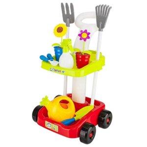 Mazā dārznieka komplekts. rotaļlietas smilškastei, āra rotaļļietas, simulācijas spēle, Little garden helper set, rotaļu komplekts dārza darbiem, Rotaļlietas, kas attīstīs bērnu motoriku, intelektu