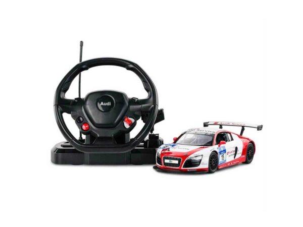 RC, Audi R8, radiovadāma rotaļlieta rastar.