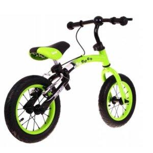 bērnu balansa ritenis, bērnu skrejritenis zaļš, metāla dip daps, velosipēds Rīgā