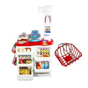 Rotaļu lielveikala komplekts, bērnu rotaļu veikals, simulācijas spēle supermarket